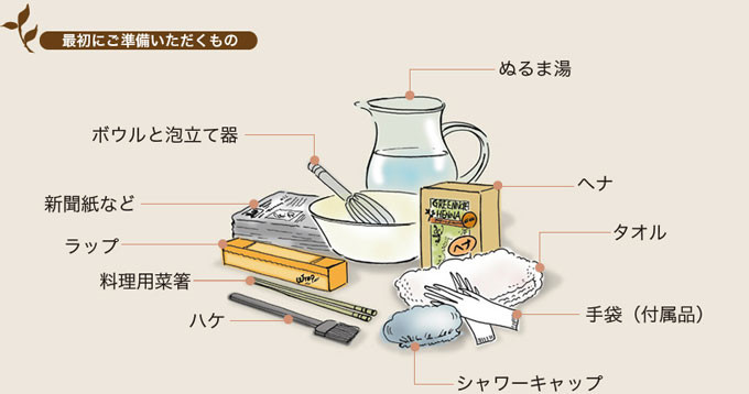 グリーンノートヘナ_染め方