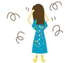 ストレスを抱えている女性イラスト