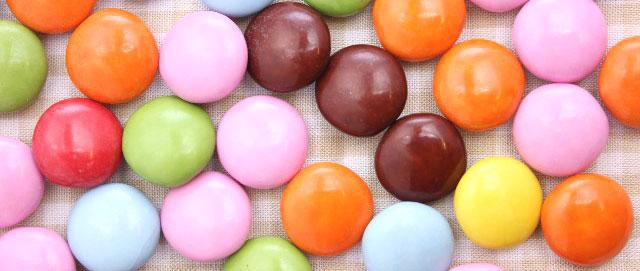カラフルなチョコレート