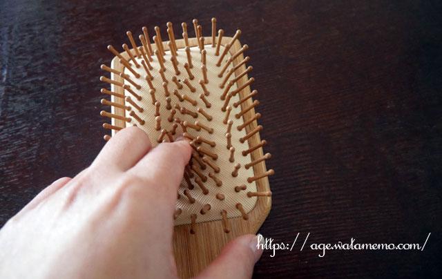 Orienex ヘアブラシ 木製櫛 美髪ケア 頭皮&肩&顔マッサージ (大)